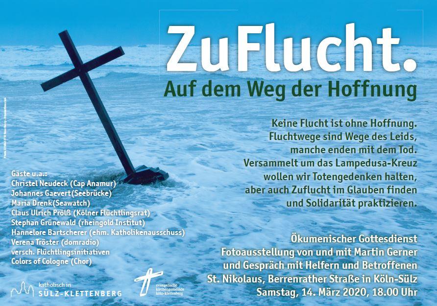 ZuFlucht - Gedenkgottesdienst am 14.3.2020 in Köln-Sülz